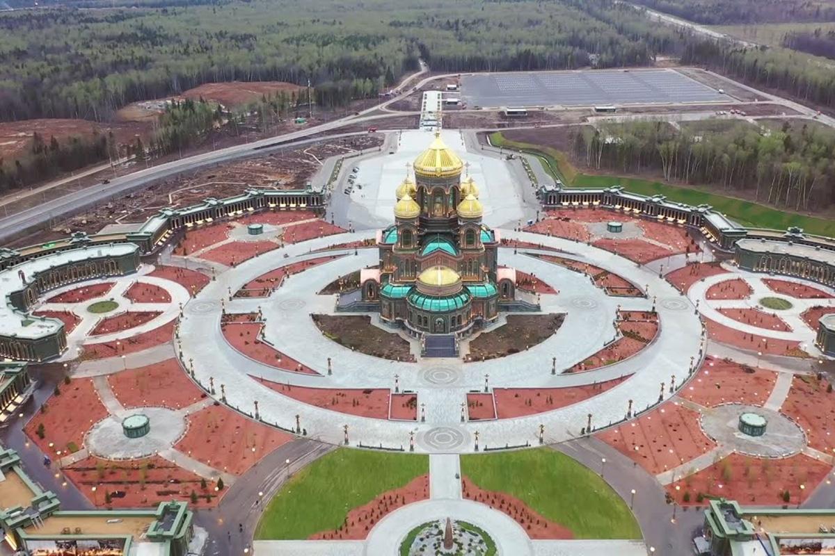 Территория Храмового комплекса (строительство Главного Храма Вооруженных Сил Российской Федерации (ГХВС)